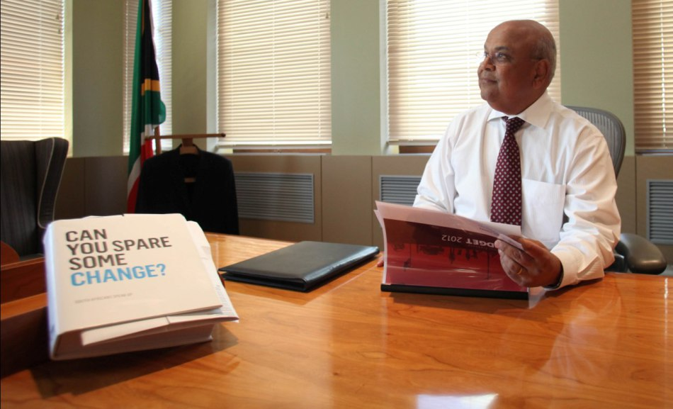 Finance Minister Pravin Gordhan in his office on Tuesday. Gordhan is presenting the budget speech today (Wednesday). 21.02.2012. Picture: SHELLEY CHRISTIANS/THE TIMES