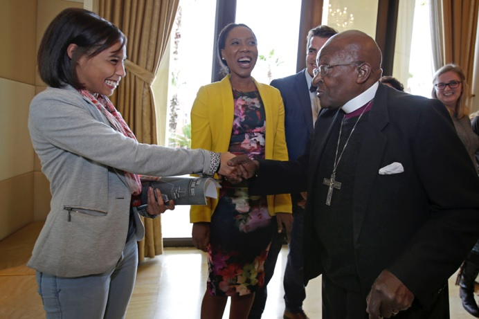 Atmosphere Communications welcomes Archbishop Emeritus Desmond Tutu to the UN Foundation event in Cape Town